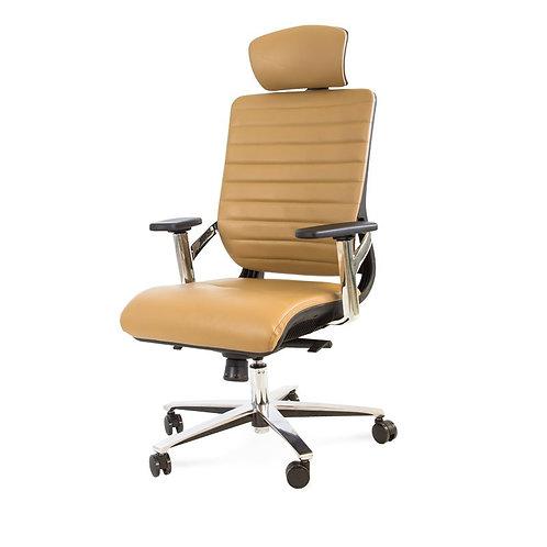 Fotel biurowy brązowy - Founder 33
