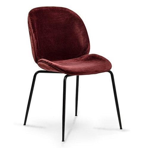 Krzesło bordowe  welurowe  Salomon
