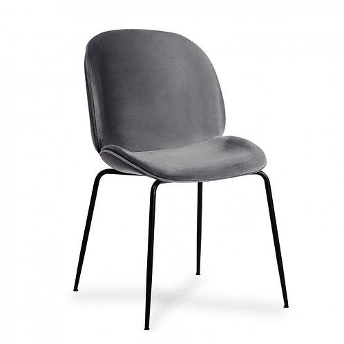 Krzesło szare  welurowe  Salomon