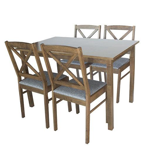 Zestaw czterech krzeseł plus stół Malwinka