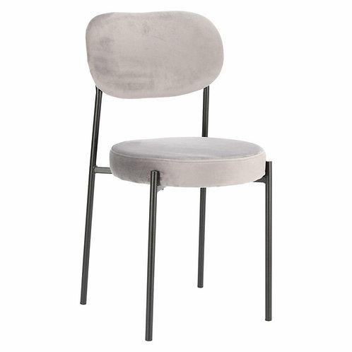 Krzesło szare welurowe  Linda  44