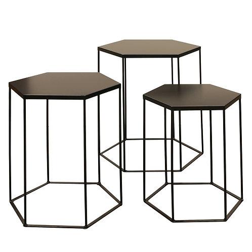 Zestaw stolików  Malmo 33 czarne