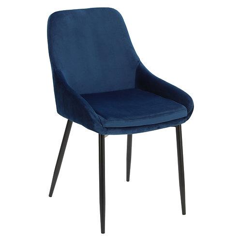 Krzesło niebieskie  welurowe Rozalia 28