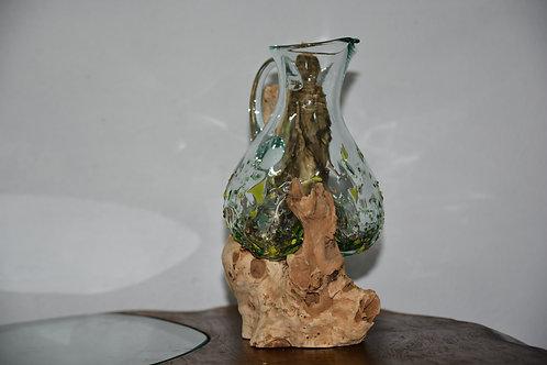 Hand Made - Wazon Glass & Teak III