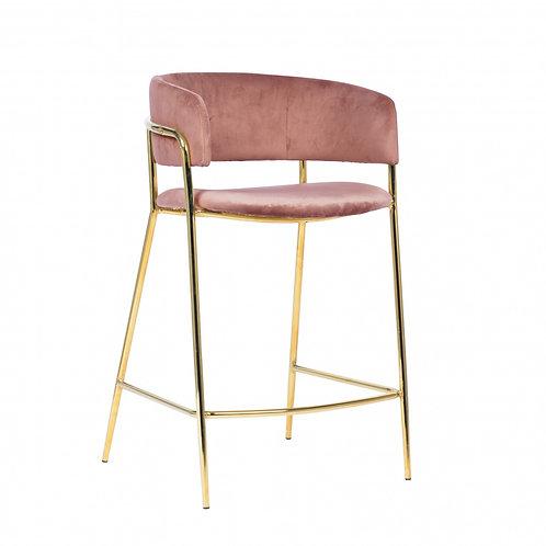 Hoker designerski   różowy - złote nóżki Waleria 1