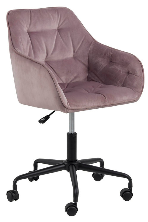 Fotel różowy biurowy welurowy  SA  2442