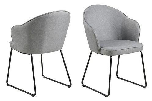 Krzesło tapicerowane szare 22