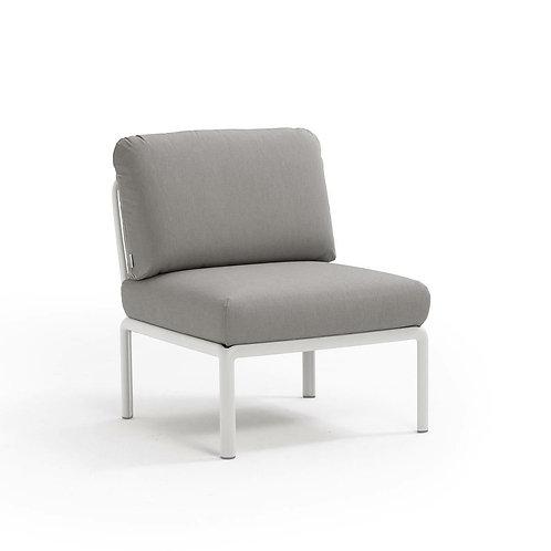 Fotel Komodo środkowy biały /szary