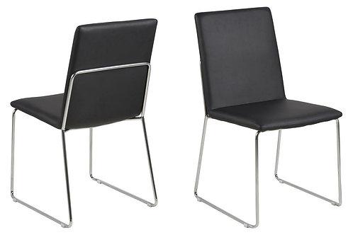 Krzesło tapicerowane skórą ekologiczną - czane