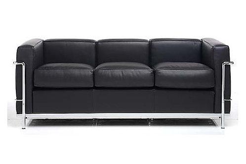 Sofa z naturalnej skóry - LeCorbusier 3os.