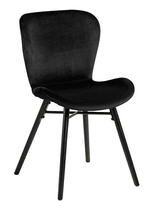 Krzesło welurowe czarne Bart