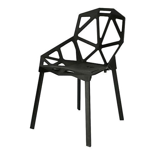 Krzesło czarne  nowoczesne Jowisz
