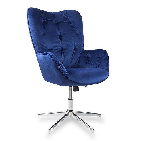 Fotel obrotowy z weluru niebieski Leopold 22