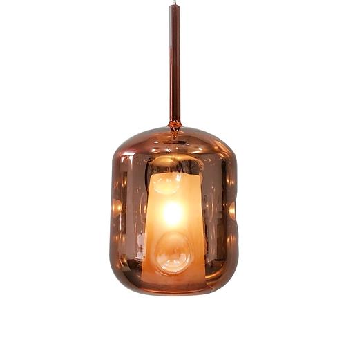 Lampa Amber - różowe złoto