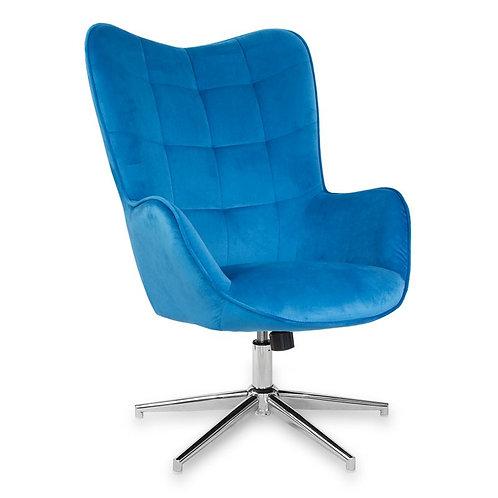 Fotel obrotowy z weluru niebieski  Elżbiet 2
