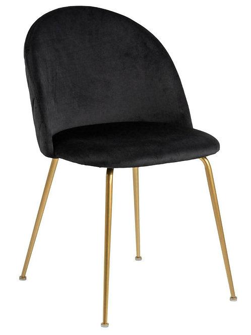 Krzesło czarne  Elena  33 - złote nóżki