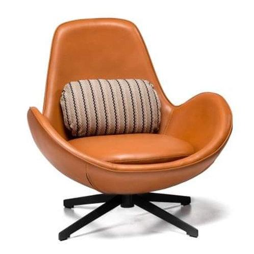 Fotel brązowy Luxury Casablanca 2 czarna podstawa