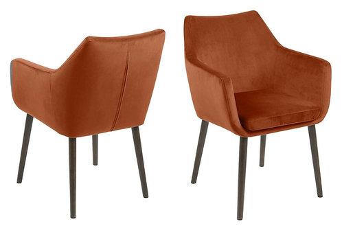Krzesło welurowe  Rudi