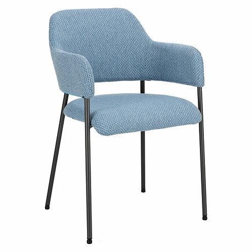 Krzesło niebieskie  tapicerowane Justin 4