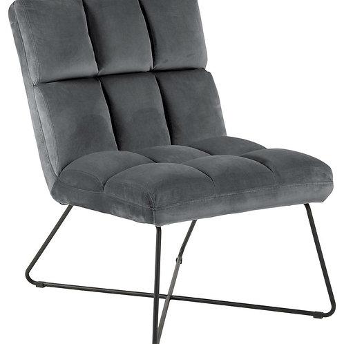 Fotel szary welurowy pikowany Florencja 331