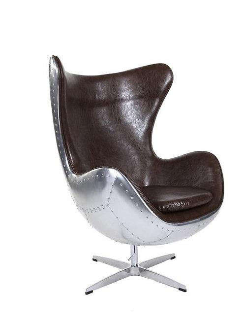 Fotel Arne Egg - aluminium brąz