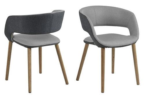 Krzesło Grace dark/light grey