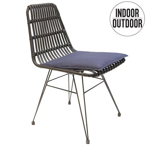 Krzesło  z technorattanu Boho czarne 55