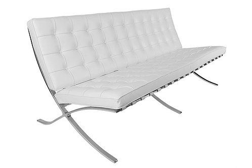 Sofa z naturalnej skóry - Barcelona 3os.