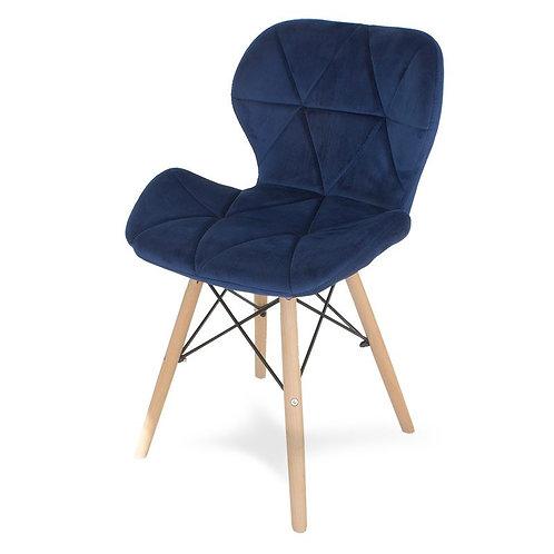 Krzesło welurowe niebieski ciemny  Charles 1