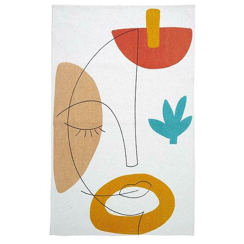 Dywanik bawełniany kolorowy 80 cm Art
