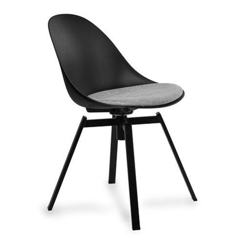 Krzesło czarne  obrotowe z poduszką