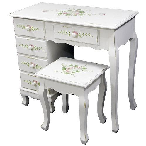 białe biurko z krzesłem Shabby Chic - Wendy