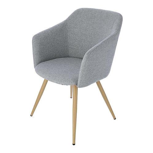 Krzesło tapicerowane szare Lidia