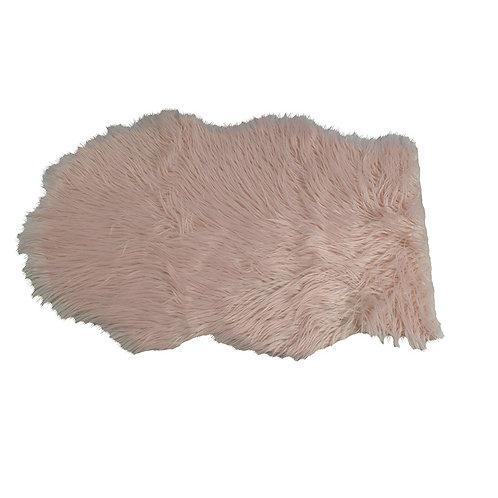 Różowe futerko - dywanik