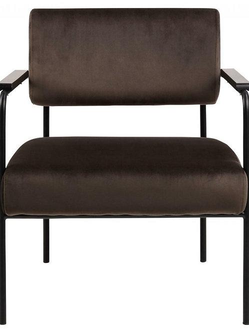Fotel Klasyk szaro-brązowy