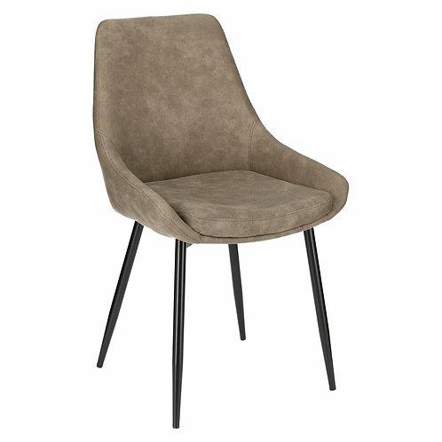 Krzesło brązowe z zamszu ekologicznego Estera 1