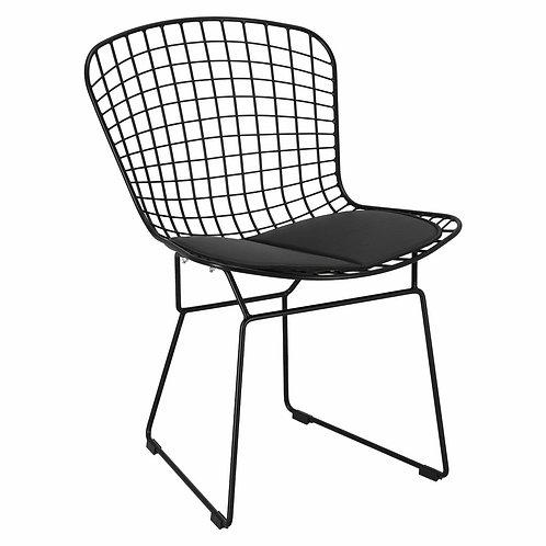 Krzesło czarne ażurowe  Kasjopeja  21