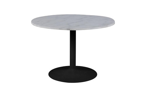 Stół  biały marmur - czarna podstawa 110 cm