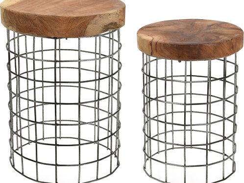 Designerskie stołki - stoliki  Ażurki 11