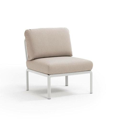 Fotel Komodo środkowy biały /beżowy