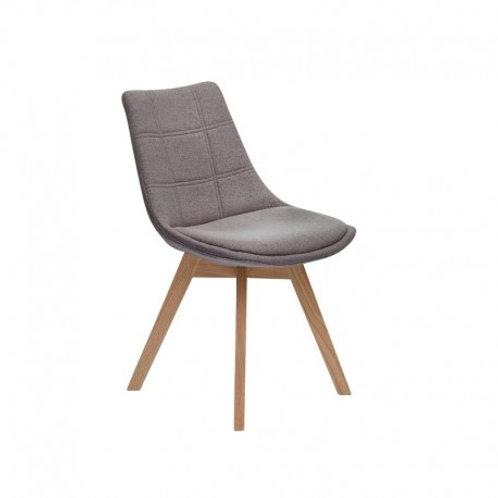 Krzesło szare tapicerowane Amanda 33