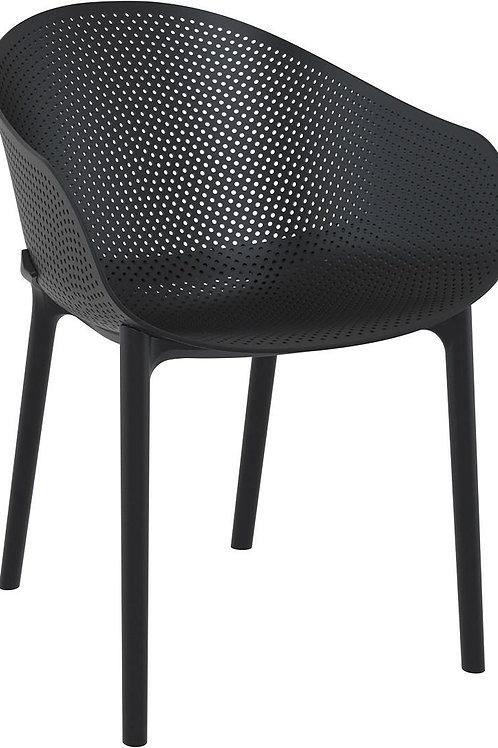 Krzesło ażurowe czarne Farel 33