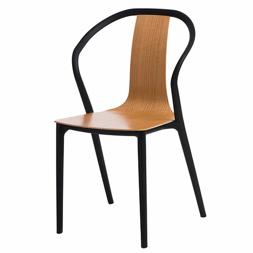 Krzesło Baleria  czarne/naturalne
