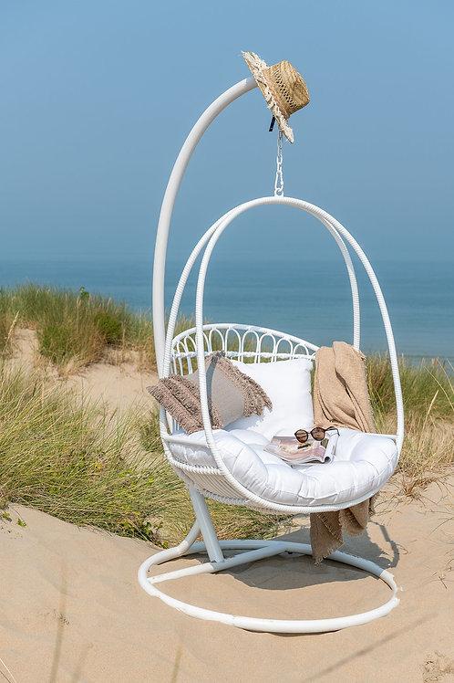 Biały Fotel ogrodowy Marbella