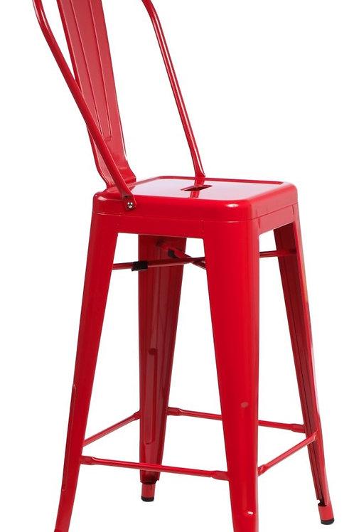 Designerski czerwony  hoker Pati