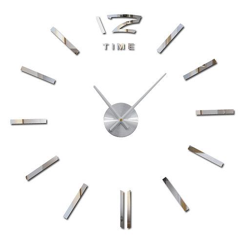 Zegar ścienny 3D duży, do naklejenia na ścianę 3