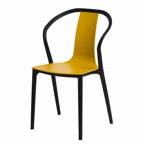 Krzesło Baleria   czarne/żółte