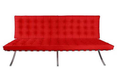 Sofa Barcelona 2 osobowa - skóra naturalna - red