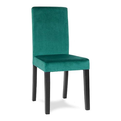 Krzesło zielone  welurowe Samanta 3442