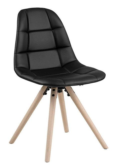 Krzesło tapicerowane czarne Olimpia